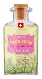 SwissMedicus Herbal FACE MASK ANTI AGE pleťová maska s koenzýmom Q10 1x17 ml