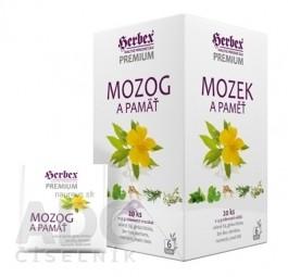 HERBEX Premium MOZOG A PAMÄŤ bylinná zmes, čaj 20x1,5 g (30 g)