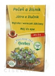 HERBEX PEČEŇ A ŽLČNÍK bylinný čaj 20x3 g (60 g)