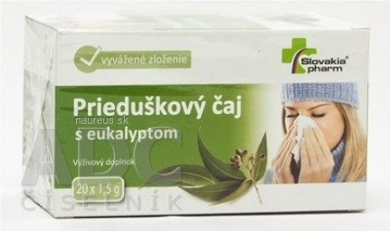Slovakiapharm Prieduškový čaj s eukalyptom 20x1,5 g (30 g)