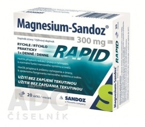Magnesium Sandoz 300 mg RAPID gra por 1x20 ks