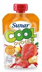 Sunar COOL OVOCIE Banán, Jahoda, Jablko 100 % ovocia (od ukonč. 12. mesiaca) 1x120 g