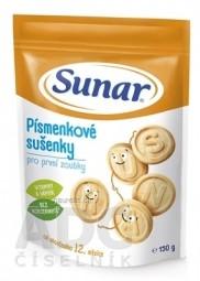 Sunar Písmenkové sušienky pre prvé zúbky (od ukonč. 12. mesiaca) 1x150 g