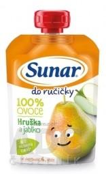 Sunar Do ručičky HRUŠKA a jablko 100 % ovocia (od ukonč. 4. mesiaca) 1x100 g