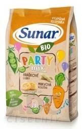 Sunar BIO Chrumky Party mix (hráškové struky a mrkvové kolieska)(od ukonč. 12. mesiaca) 1x45 g