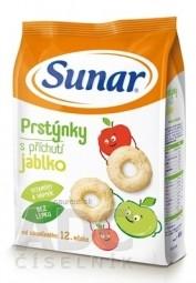 Sunar Detský snack Prstienky s príchuťou jablko (od ukonč. 12. mesiacov) 1x50 g