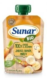 Sunar BIO Kapsička Jablko, banán, mrkva 100 % ovocia a zeleniny (od ukonč. 4. mesiaca) 1x100 g