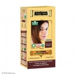 Akcia spotreba: 08/2021 100% Rastlinná, 100% Organická farba na vlasy Gaštanovohnedá