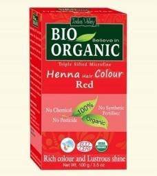Henna farba na vlasy Červená