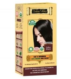 100% Rastlinná, 100% Organická farba na vlasy Indus Čierna