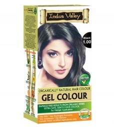 Gélová farba na vlasy Čierna 1.0