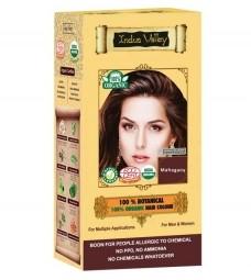 100% Rastlinná, 100% Organická farba na vlasy Mahagónová