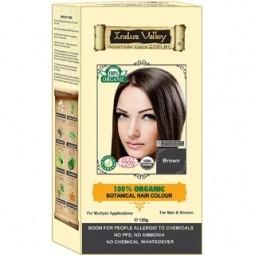 100% Rastlinná, 100% Organická farba na vlasy Hnedá