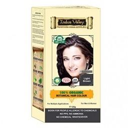 Akcia Spotreba 8/2021  100% Rastlinná, 100% Organická farba na vlasy Svetlohnedá-1