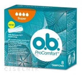 o.b. ProComfort Super hygienické tampóny (inov.2018) 1x8 ks