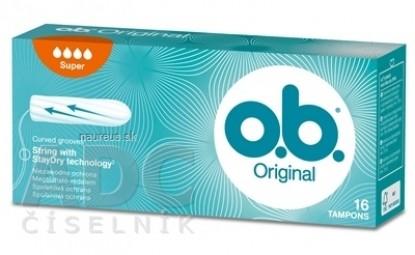 o.b. Original Super hygienické tampóny (inov.2018) 1x16 ks