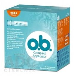 o.b. Compact Applicator Super hygienické tampóny 1x16 ks