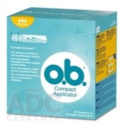 o.b. Compact Applicator Normal hygienické tampóny 1x16 ks
