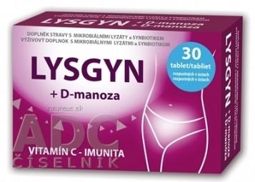 LYSGYN + D-manóza tablety rozpustné v ústach 1x30 ks
