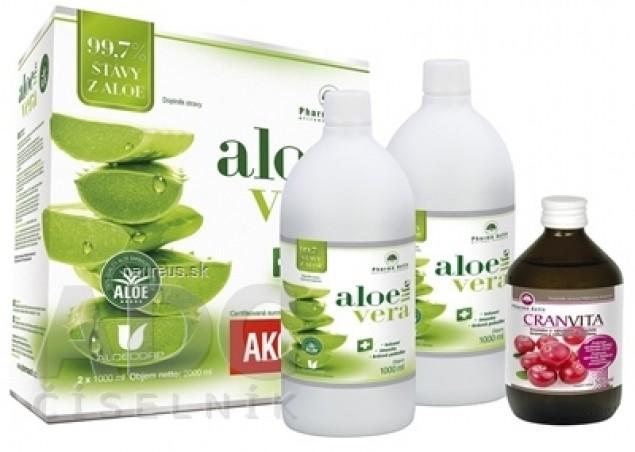 Pharma Activ AloeVeraLife AKCIA šťava z aloe 99,7% 2x1000 ml (2000 ml) + Cranvita 500 ml, 1x1 set