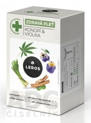 LEROS ZDRAVÁ PLEŤ Konope & Fialka bylinný čaj 20x1,5 g (30 g)