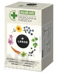 LEROS SILNÉ OČI ČUČORIEDKA & NECHTÍK bylinný čaj, nálevové vrecúška 20x1,5 g (30 g)