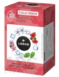 LEROS COLD BREW Bucco & Mäta bylinný čaj 20x1,5 g (30 g)