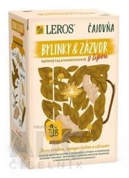LEROS Čajovňa BYLINKY A ZÁZVOR s lipou bylinný čaj, nálevové vrecúška 20x2 g (40 g)