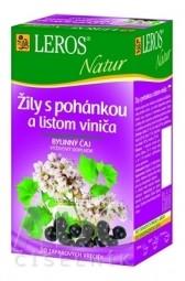 LEROS NATUR ŽILY S POHÁNKOU A LISTOM VINIČA bylinný čaj 20x2 g