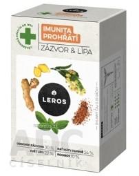 LEROS IMUNITA PREHRIATIE ZÁZVOR & LIPA bylinný čaj, nálevové vrecúška 20x2 g (40 g)