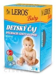 LEROS BABY DETSKÝ ČAJ DÝCHACIE CESTY S LIPOU bylinný 20x2 g (40 g)