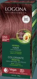 Logona Prášková farba na vlasy Mahagón - 100g