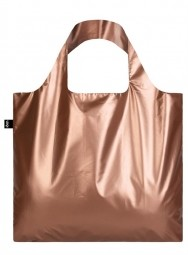 Nákupná taška LOQI Metallic Matt Rose Gold