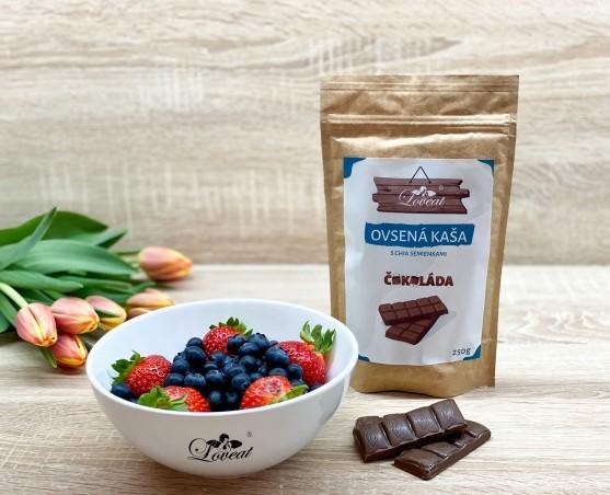 Fitness ovsená kaša LOVEAT schia semienkami – Čokoládová 500 g