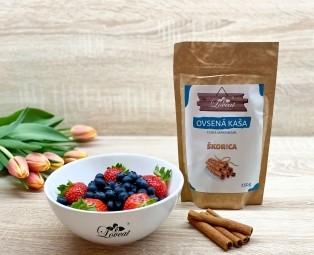 Fitness ovsená kaša LOVEAT schia semienkami – Škoricová 250 g