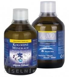 Pharma Activ Aktívne minerály extra AKCIA 300 ml + Koloidné striebro Ag100 10ppm 300 ml, 1x1 set
