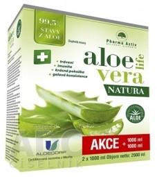 Pharma Activ AloeVeraLife NATURA šťava z aloe 99,5% 2x1000 ml (2000 ml), 1x1 set