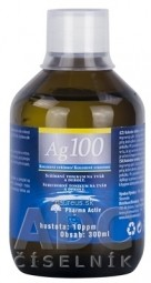 Pharma Activ Koloidné striebro Ag100 hustota 10ppm, 1x300 ml