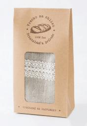 Manufolktúra Vrecko na chlieb s krajkou 45x24 cm