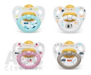 NUK CUMLÍK CLASSIC HAPPY KIDS V2-Latex Box utišujúci, veľkosť 2 (6-18 mesiacov), rôzne farby, 1x1 ks