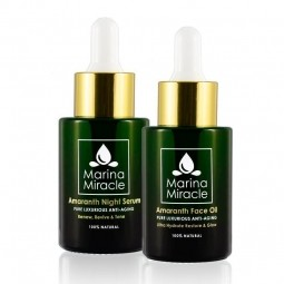 Veľké výhodné balenie Amaranth Face Oil & Amaranth Night Serum