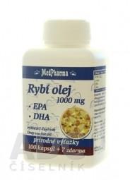 MedPharma RYBÍ OLEJ 1000 mg - EPA, DHA cps 100+7 zadarmo (107 ks)