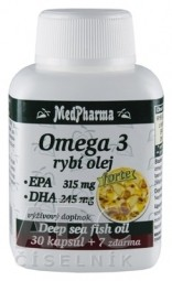 MedPharma OMEGA 3 rybí olej forte - EPA, DHA