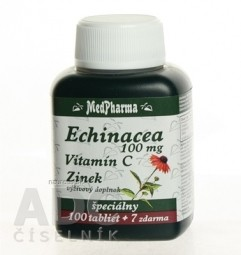 MedPharma ECHINACEA 100MG, VITAMÍN C, ZINOK
