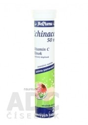 MedPharma ECHINACEA 50 mg + vitamín C + Zinok