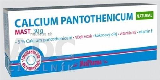 MedPharma CALCIUM PANTOTHENICUM Natural masť 1x30 g