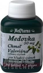 MedPharma MEDOVKA 50MG + CHMEĽ + VALERIÁNA tbl 60+7 zadarmo (67 ks)