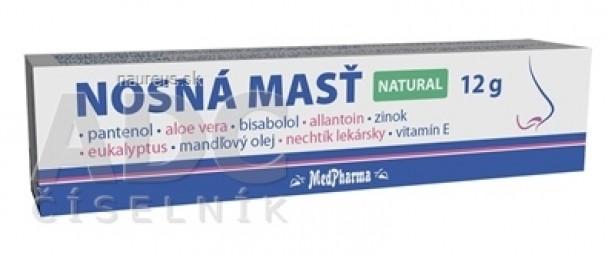 MedPharma NOSNÁ MASŤ NATURAL 1x12 g
