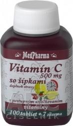 MedPharma VITAMÍN C 500MG so šípkami tbl (s postupným uvoľňovaním) 100+7 zadarmo (107 ks)