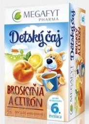 MEGAFYT Detský čaj BROSKYŇA A CITRÓN ovocný čaj, 20x2 g (40 g)